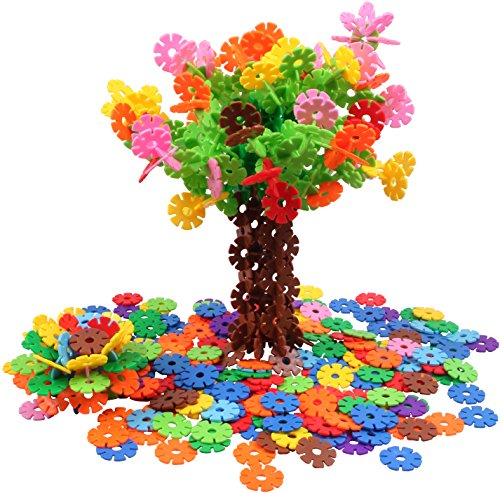 VIAHART Brain Flakes 500 Piece Interlocking Plastic Disc Set | A Creative and Educational Alternative to Building Blocks | Tested for Children's Safety | A Great STEM Toy for Both - Blocks Childrens Toys