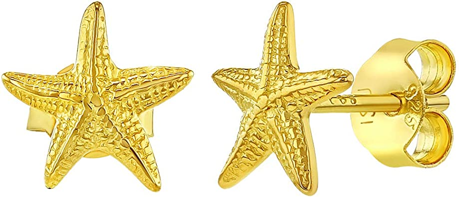 Buyless Fashion Surgical Stainless Steel Mini Star Fish Stud Earrings