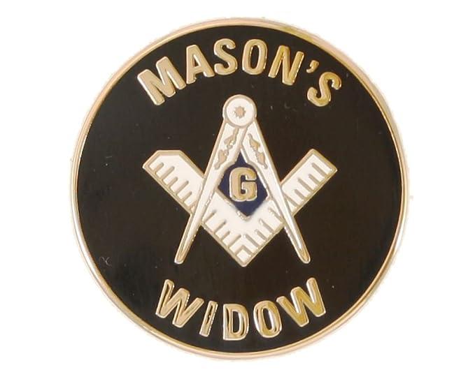 Amazon com: Freemason's Widow's Pin Gold Plate: Clothing