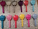 PARTY FAVORS Monster High® Accessories MISC003_SET OF 12 SKULLETTE DOLL BRUSHES; RAINBOW