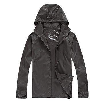 iBaste Ropa de protección sol mujer con capucha cortavientos ...