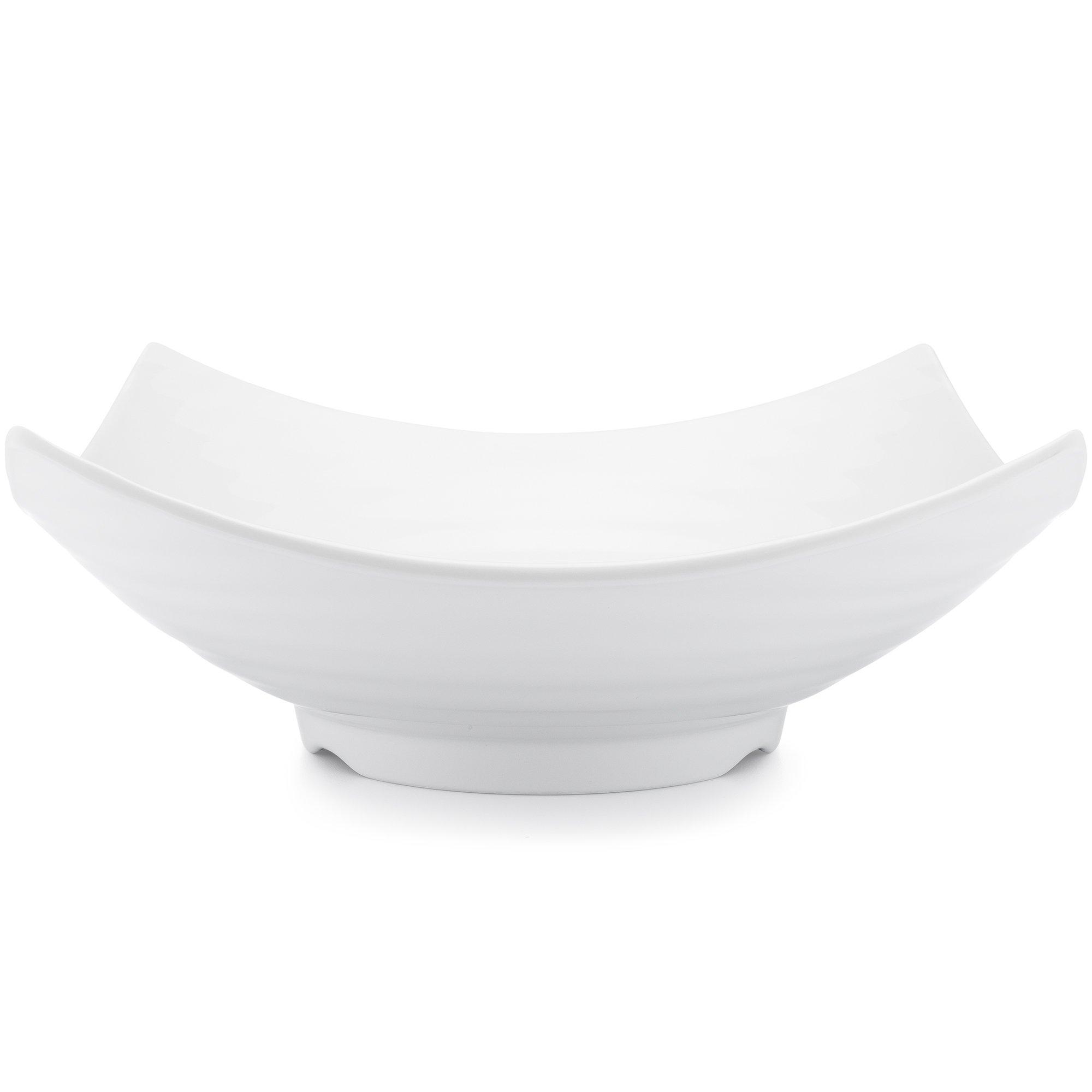 Q Squared Zen BPA-Free Melamine Serving Bowl, 12-1/2 Inches, White