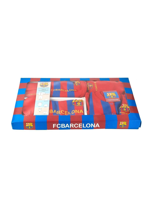SVB Baby Juego de Fútbol 7 Pieza con Sombreros, Guantes, Baby Pelele, Peto y Completo Chándal, Barcelona: Amazon.es: Deportes y aire libre