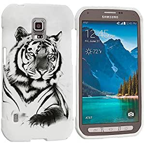 Accessory Planet(TM) White Tiger TPU Design Soft Rubber Case Cover Accessory for Samsung Galaxy S5 Active