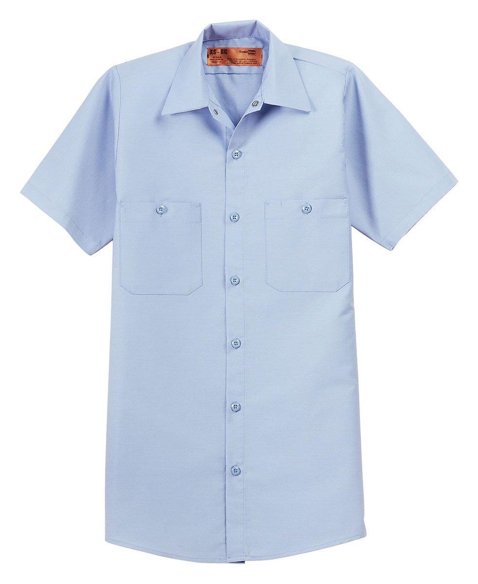 Red Kap Short Sleeve Industrial Work Shirt. SP24 Light Blue 6XL
