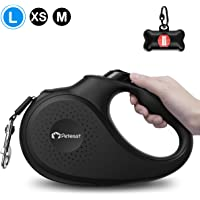 Peteast Retractable Dog Leash, 360° Tangle-Free, Heavy Duty Up to 110lbs Pets, 16ft Strong Reflective Nylon Tape with…