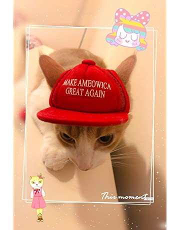 info for 8a372 32589 Unekorn Ultra Comfort Adjustable Make Ameowica Great Again MAGA Trump  Slogan Cat Hat Pet Costume for