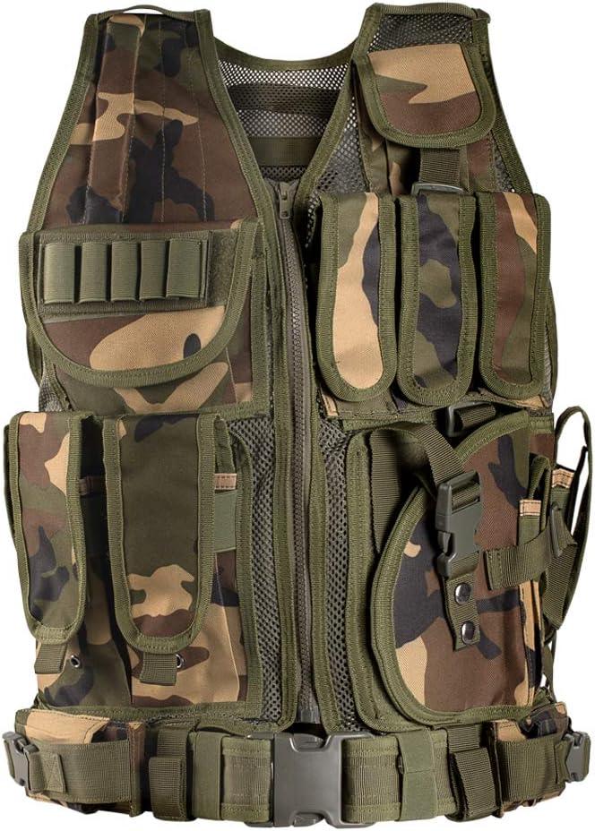 Himal Sports-Vest, 600D Encryption Polyester Adjustable Lightweight Combat-Vest for Games or Training