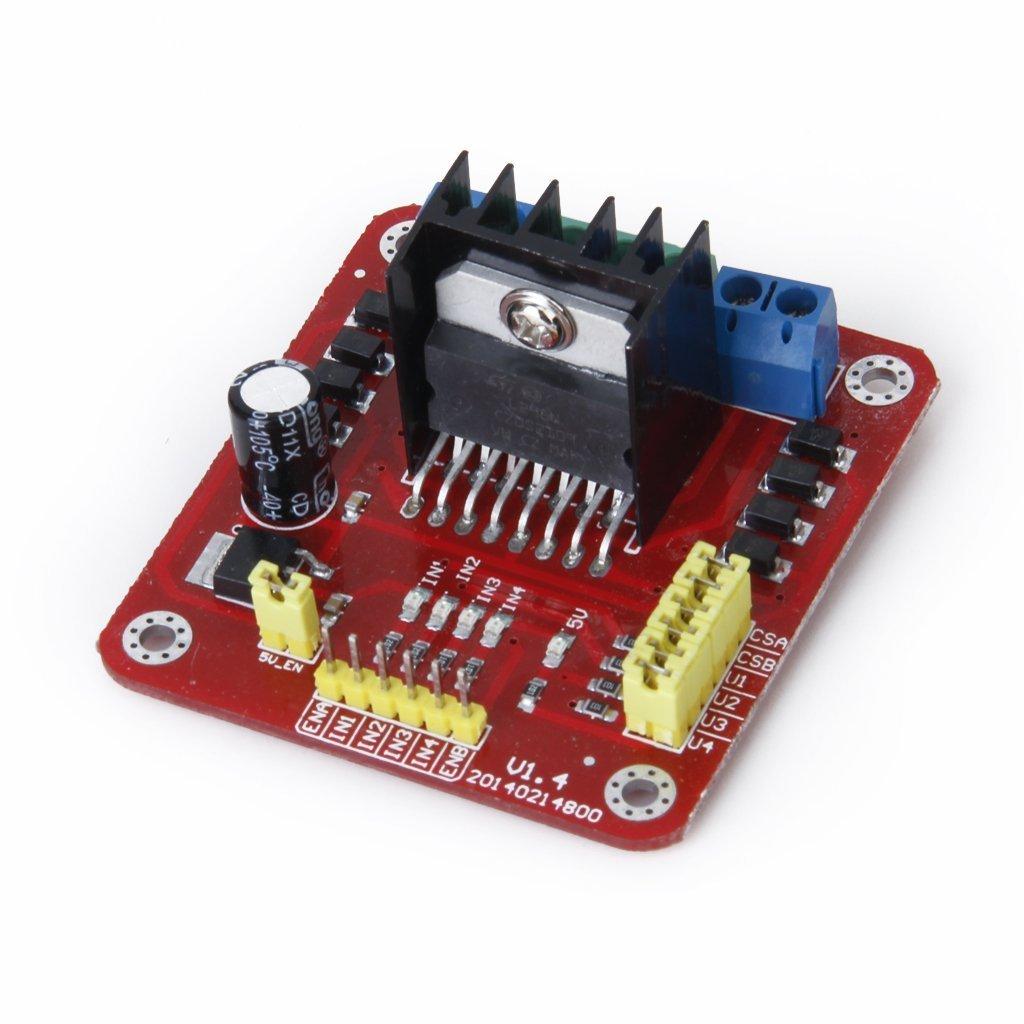 L298N Controller Modulo del bordo - SODIAL(R) L298N Doppio H-Bridge Motor Driver Controller Modulo del bordo 016326