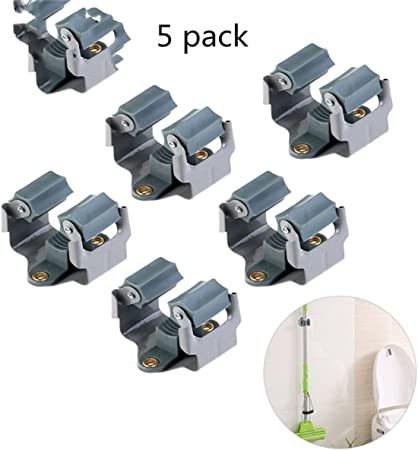 6 Pcs Metal Gaint Spring Grip Clamp Tool Hanger Brooms and Mops Wall Orgainzer