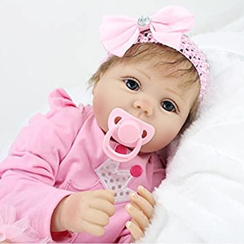 2325c352455e2 HOOMAI Bebe Reborn Fille Silicone Poupee 55cm realiste Baby Doll Pas Cher  Magnétique Jeux poupons 22inch