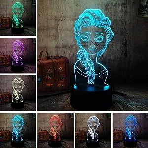 3D Night Lightillusion Lamp 7 Colors Change Optical Illusion Led Touch Sensor Lamp Boy Kids Toy Baby Sleep Desk Lamp Bedroom Decor Birthday Christmas Gift Diamond Skull