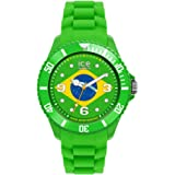 ICE-Watch - Montre Mixte - Quartz Analogique - Ice-World - Brazil - Big - Cadran Multicolore - Bracelet Silicone Vert - WO.BR.B.S.12
