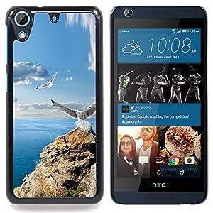 For HTC Desire 626 & 626s - ICON ROCK SEAGULLS & SEA /Modelo de la piel protectora de la cubierta del caso/ - Super Marley Shop -