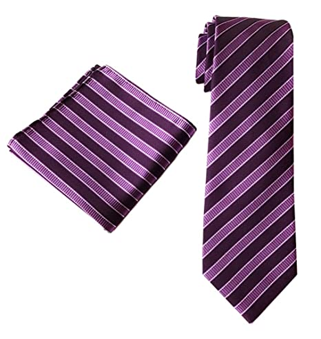 Mon5f Home Corbata de Negocios en Color Mixto Corbata a Rayas con ...