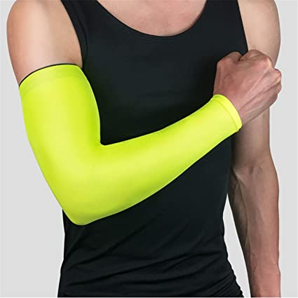 Solid Arm Sleeve Basketball Running Sports UV Sun Protection Protective Gear