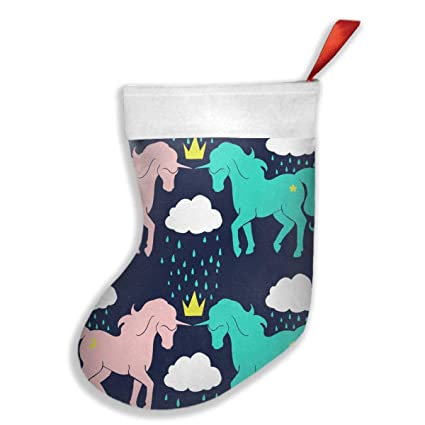 rain unicorn horse christmas stocking santa snowman reindeer xmas decorations - Unicorn Christmas Decorations
