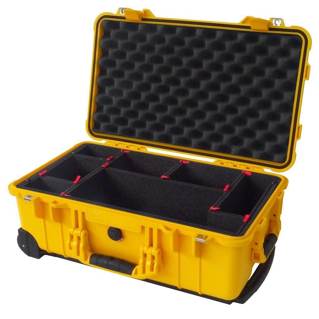 イエローペリカン1510 Case with trekpak Dividerシステム。   B01MQPE65L