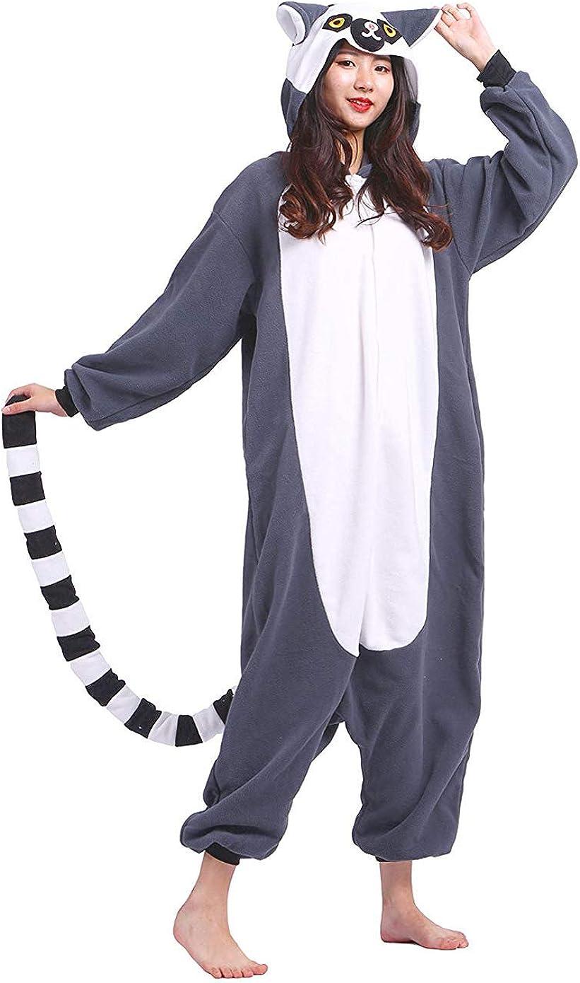 DELEY Unisexo Adulto Caliente Animal Pijamas Cosplay Disfraz Homewear Mamelucos Ropa De Dormir