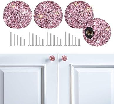 Home Nob Cupboard Cabinet Dresser Drawer Wardrobe Door Knobs Handle Pull Glitter