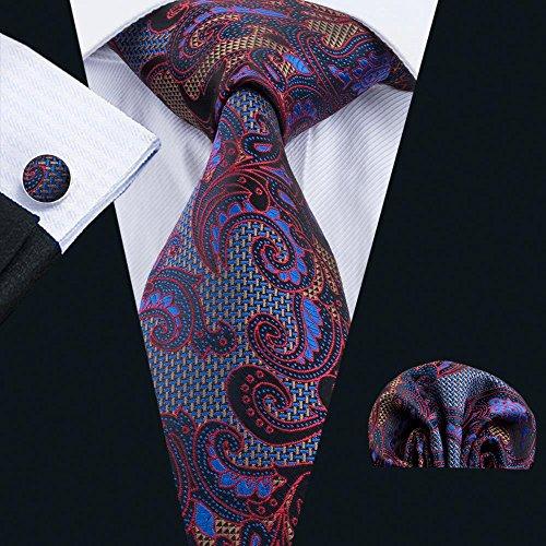 Necktie Hanky Cufflinks Set For Business Wedding Party