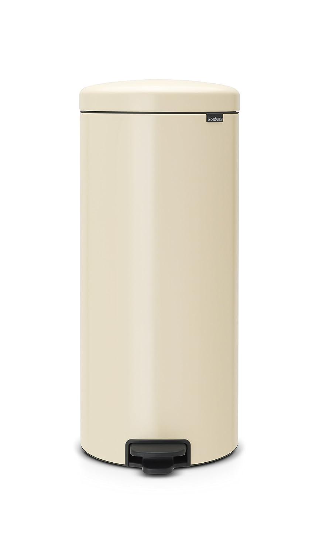 Acero Inoxidable Color Blanco Brabantia Pedal Bin newIcon 112065-Cubo de Basura 5 l