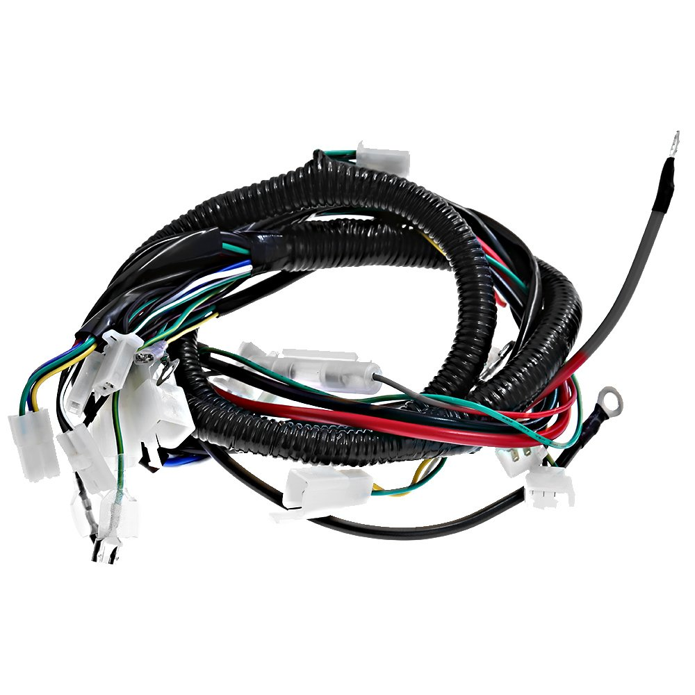 Complete Electrics All Wiring Harness Wire Loom Assembly Gy6 6 Pin Cdi Connector Motorcycle Scooter For 4 Stroke Engine Type 125cc 150cc Pit Bike Atv Quad Automotive
