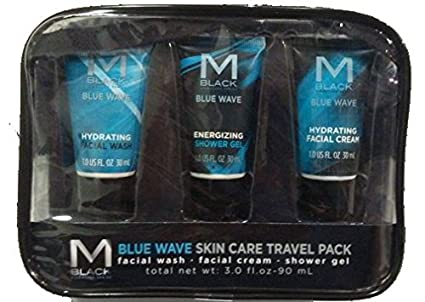 Blue Wave Skin Care Travel Pack Facial Wash, Shower Gel & Facial Cream Now Foods Avocado Oil 16 oz, Pack of 2