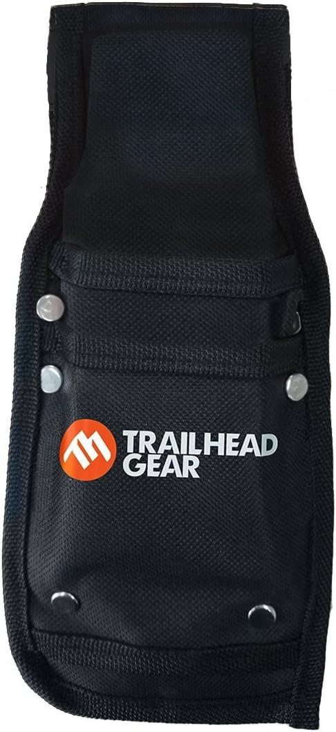Trailhead Gear negro Durable árbol Tala Bucking cuña cinturón Pouch Holster | con capacidad para dos cuñas