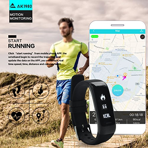 Waterproof Fitness Tracker with Real time Heart Rate Monitor [2018 UPGRADED] Activity Tracker