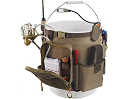 Wild River by CLC WL3506 Tackle Tek Rigger Lighted Bucket Organizer with Plier Holder and Retractable Lanyard, Bucket Not Inc