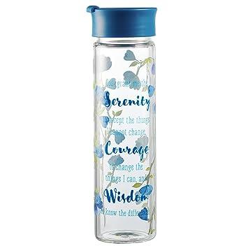 Watercolor Collection vaso bebida/botella de agua: serenidad oración