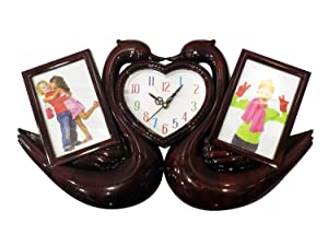 Prime Marriage Gift for Clock with Photo Frame, Collage Photo Frame for Friends and Family, 40 Gram, Multi Color, Pack of 1