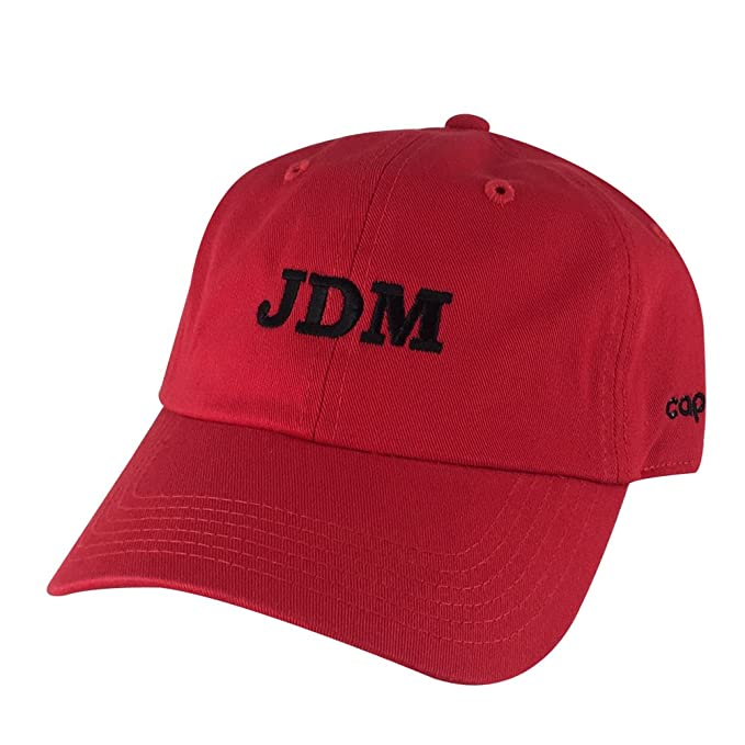Image Unavailable. Image not available for. Color  Performance JDM Team  Adjustable Unstructured Hat Dad Cap Honda Toyota - Red Black d088f2d081e1
