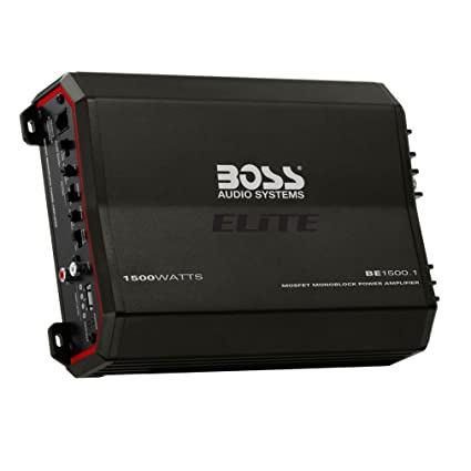 Boss Audio BE1500.1 1500W Elite Series Class AB Monoblock Amplifier with Remote Bass Knob
