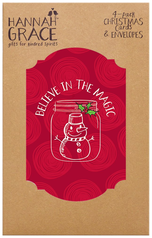 Amazon.com: C.R. Gibson Folio Christmas Cards (Pack of 4), Believe ...