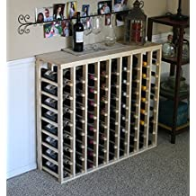 Creekside 72 Bottle Table Wine Rack (Pine) by Creekside - Exclusive 12 inch deep design conceals entire wine bottles. Hand-sanded to perfection!, Pine