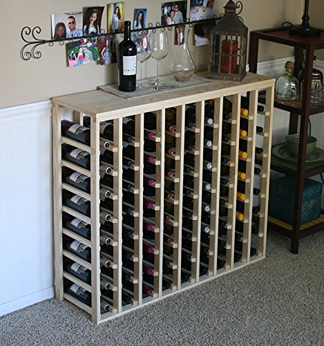 Creekside 72 Bottle Table Wine Rack (Pine) by Creekside - Exclusive 12 inch deep design conceals entire wine bottles. Hand-sanded to perfection!, Pine by Creekside Manufacturing