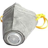 Caige Máscara del respirador Perro, Ajustable máscara Protectora para Mascotas, PM2.5 Polvo Anti Máscara 3 Piezas,Gray,M
