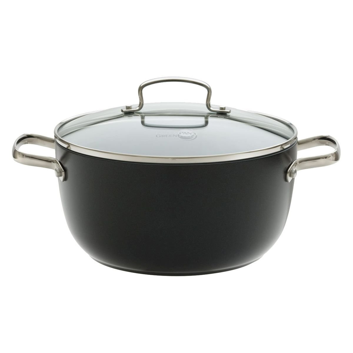 GREENPAN 1405505 24 cm Non-Stick Casserole with Glass Lid