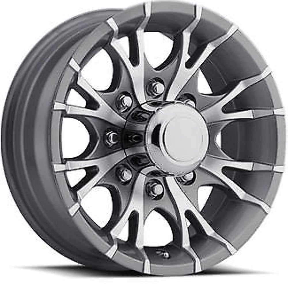 NEW 16' ALUMINUM TRAILER WHEEL RIM T07-66867GM 8X6.5 BOLT PATTERN CAP & LUG NUT Wheels Express Inc