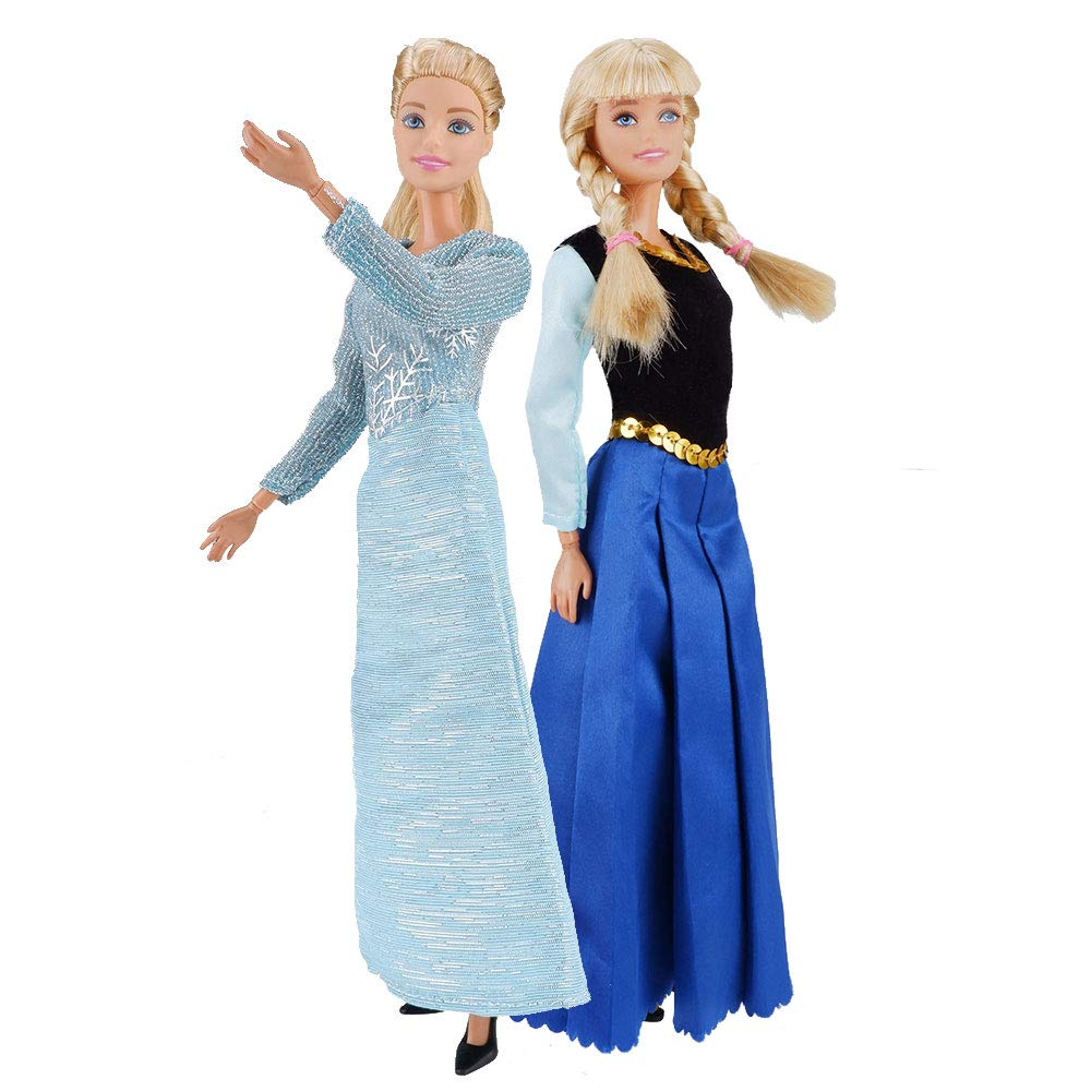 E-TING Beautiful Queen Snow Princess\'s Doll Clothes and Princess\'s Dress Up for 11 inch Doll Clothes