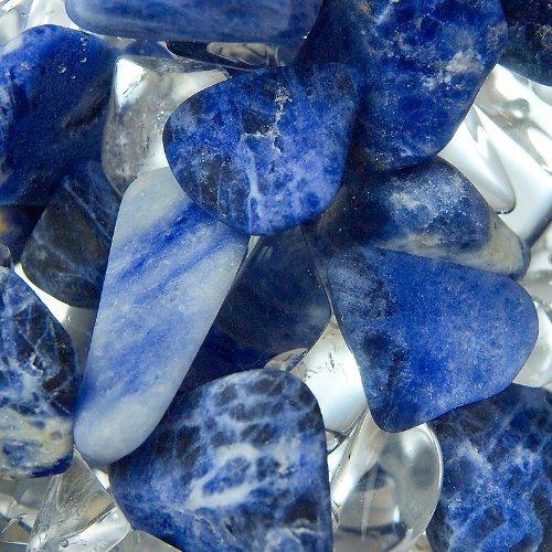 VitaJuwel Balance Vial Handmade Gemstone Infused Lead-free Bohemian Glass - Enhances and Structures Drinking Water