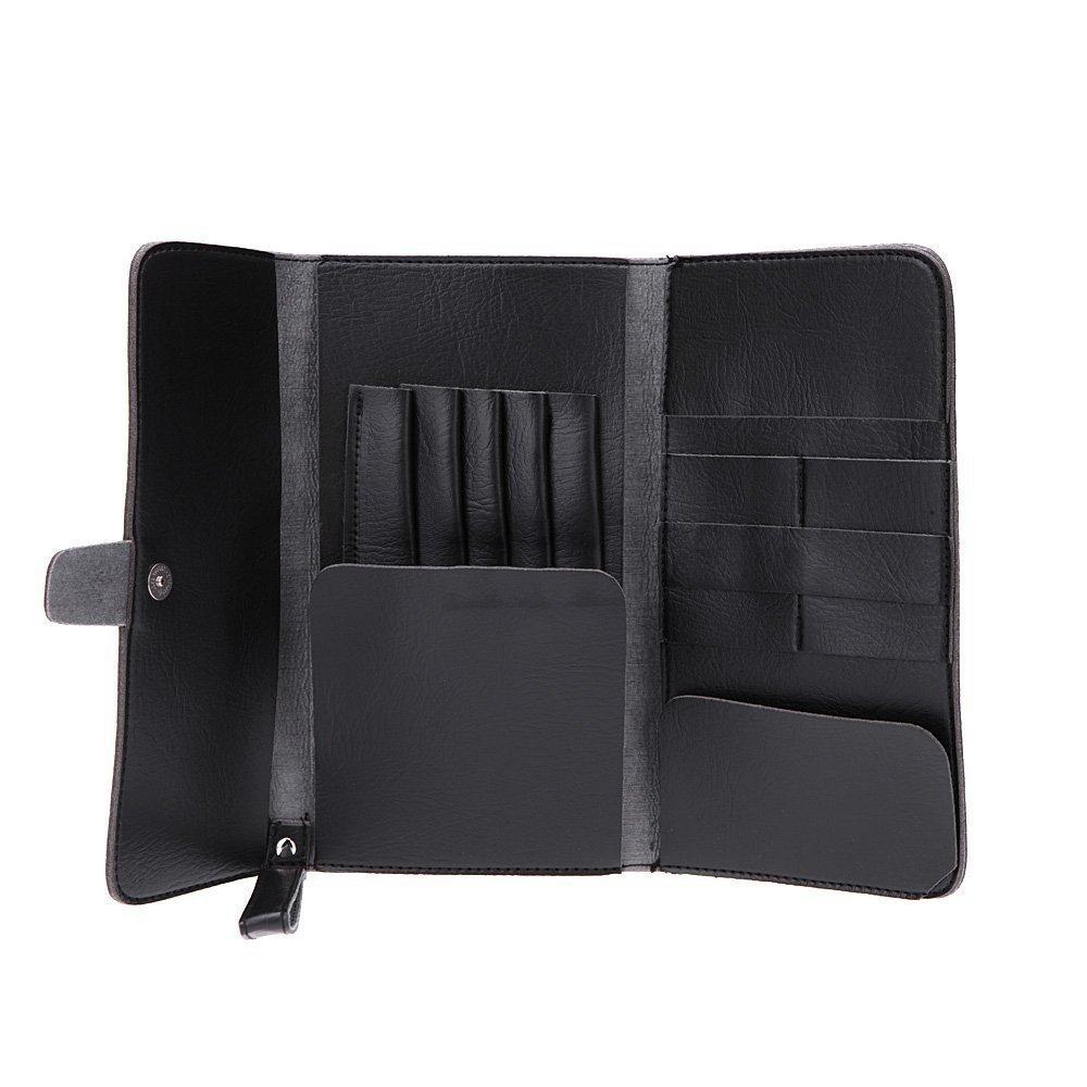 SODIAL(R) Hair Scissor Bag Pro Leather Scissors Waist Pack Hairdressing Tool Pouch Holder Case SPHAGT58979