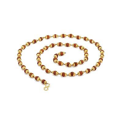 60994b7b6499e Voylla Chain Necklace for Men (Golden)(8907275767640)  Voylla Designer   Amazon.in  Jewellery