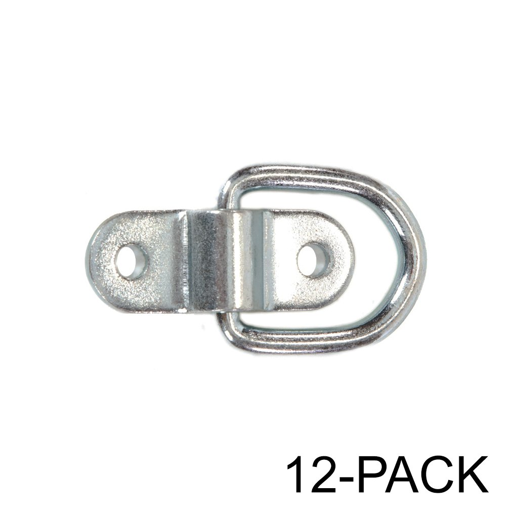 Stainless Steel D-ring Tiedowns 3,500 lb. Cap. Tie Down Anchors - 12 Pack