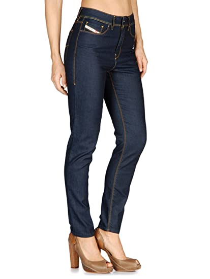Diesel Highkee 0069H Women's Jeans Pants Slim Straight (W26/L32, Blue)