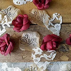 Rustic Wedding Decorations for Reception, Flower Confetti for Tables 11