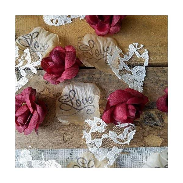 Wedding Decorations for Reception Tables, Flower Petals For Wedding, Sweetheart Table Decorations, Bridal Shower Decor, Burgundy 175 pcs.