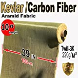 Kevlar Fabric -Yel-10' ft x 1 mtr - 2x2 Twill